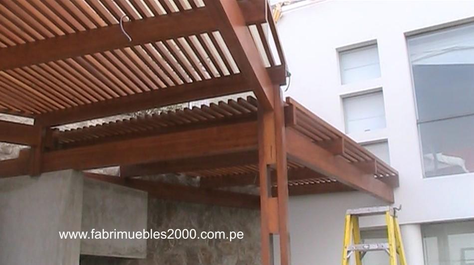 Obras techo sol y sombra en las casuarinas obras en la molina for Techos de teja para terrazas